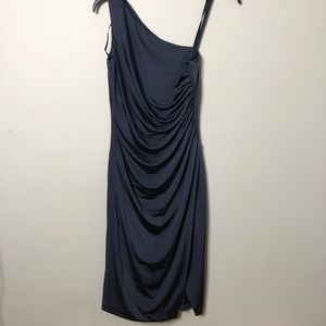 Eliza J Ruched One shoulder Dress